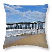 Ocean City Pier Throw Pillow