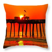 Ocean City Sunrise Throw Pillow