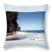 Ocean Cliffside Throw Pillow