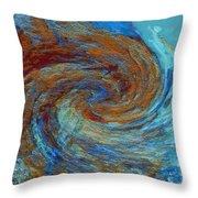 Ocean Colors Throw Pillow