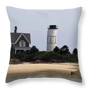 Ocean Cottage Throw Pillow