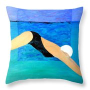 Ocean Dive Throw Pillow