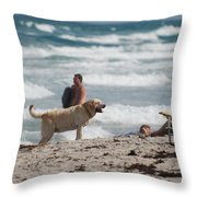 Ocean Dog Throw Pillow