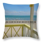 Ocean Dreaming Quote Throw Pillow
