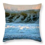 Ocean Energy At Sunrise Throw Pillow
