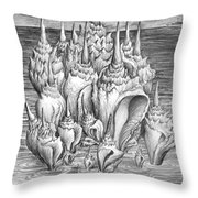 Ocean Fantasy. Huge Shells Throw Pillow
