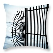 Ocean Fence Throw Pillow