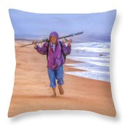 Ocean Fisherman Throw Pillow