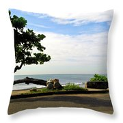 Ocean Formed Tree Throw Pillow