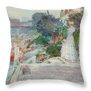Ocean Front, Gloucester, Massachusetts Throw Pillow
