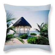 Ocean Gazebo Throw Pillow