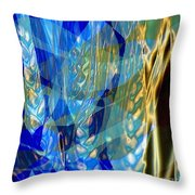 Ocean Girl With Golden Wheats Throw Pillow by Navo Art