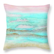 Ocean Haze Throw Pillow