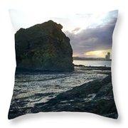 Ocean Headland Panorama Throw Pillow