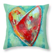 Ocean Heart Throw Pillow