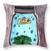Ocean In A Botle  Throw Pillow