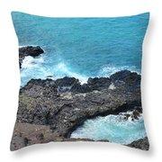 Ocean Inlet Throw Pillow