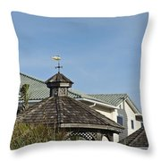 Ocean Isle Fish Weathervane Throw Pillow