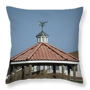 Ocean Isle Pelican Weathervane Throw Pillow