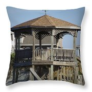 Ocean Isle Pig Weathervane Throw Pillow