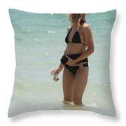 Ocean Lady Throw Pillow