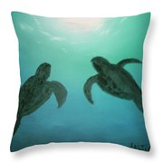 Ocean Light Throw Pillow