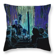 Ocean Lounge Jazz Night Throw Pillow