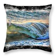 Ocean Motion Throw Pillow
