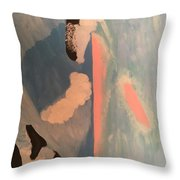 Ocean Painting Throw Pillow