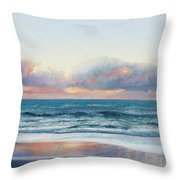 Ocean Painting - Days End Throw Pillow