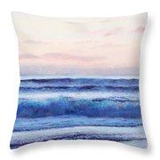 Ocean Painting 'dusk' By Jan Matson Throw Pillow