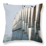 Ocean Pier Throw Pillow