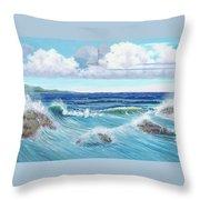 Ocean Pyramid Throw Pillow