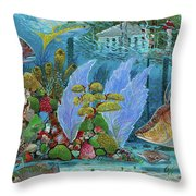 Ocean Reef Paradise Throw Pillow
