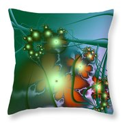 Ocean Secrets Abstract Throw Pillow
