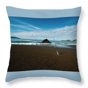 Ocean Side Lunch - San Francisco Bay Throw Pillow