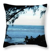 Ocean Silhouette Throw Pillow