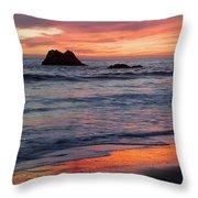 Ocean Sky Awash In Color Throw Pillow