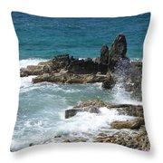 Ocean Spray Mid-air Throw Pillow