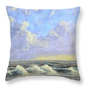 Ocean Storm Sunrise Throw Pillow