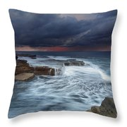 Ocean Stormfront Maroubra Throw Pillow
