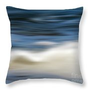 Ocean Stretch - Abstract Throw Pillow