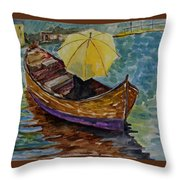 Ocean Stroll Throw Pillow