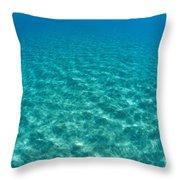 Ocean Surface Reflections Throw Pillow