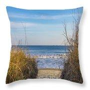 Ocean Through The Dunes Throw Pillow