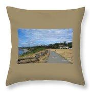 Ocean Walk Victoria Bc Throw Pillow