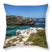 Ocean Water And Rocks Throw Pillow