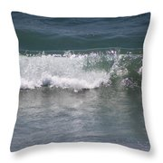 Ocean Wave On The Pacific In Huntington Beach Throw Pillow
