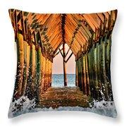 Ocean Window Throw Pillow