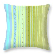 Oceana Stripes Throw Pillow by Gina Harrison